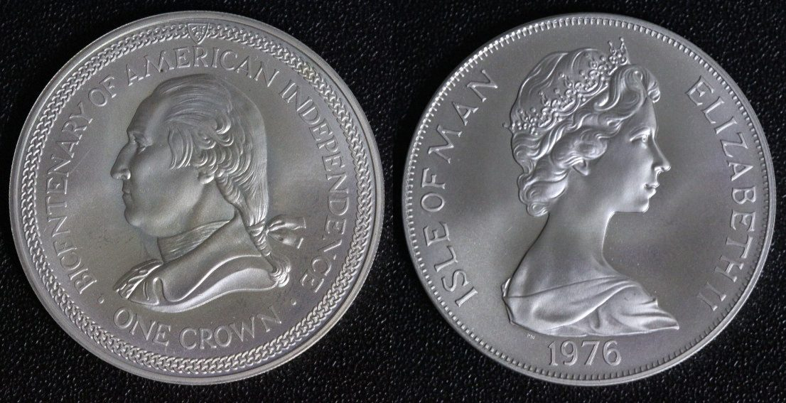 moneda 1 crown isla de man n u00edquel  cobre 1976 isabel ii