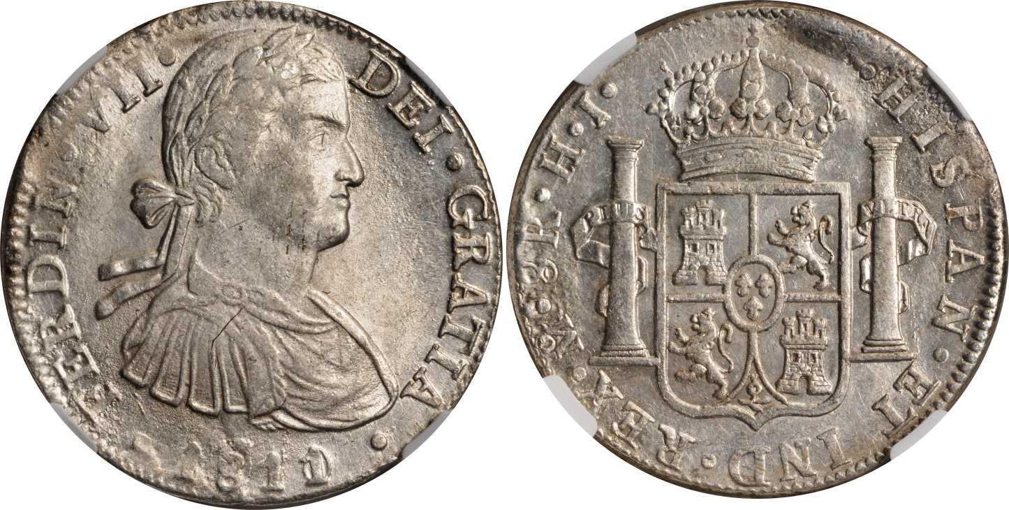 8 Real 1811 Spanish Mexico / Kingdom of New Spain (1519 ...  Godoy